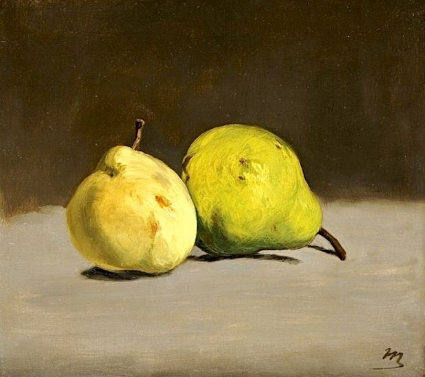 Two Pears, 1864 by Edouard Manet, via Pinterest