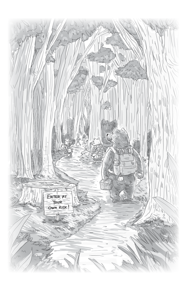 """Into the Woods"": chapter artwork from Tea in Pajamas."